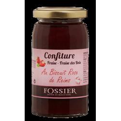 Confiture à la Fraise et aux Biscuits Roses Fossier