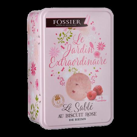 Boite Sablé au biscuit rose framboise Fossier