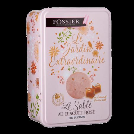 Boite sablé au Biscuit Rose caramel