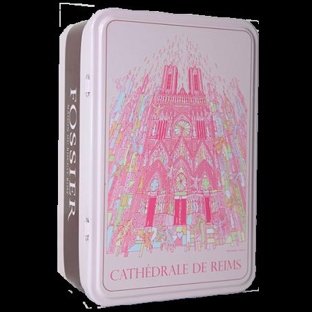 Boite collector Cathédrale de Reims Biscuit Rose Iemza Fossier